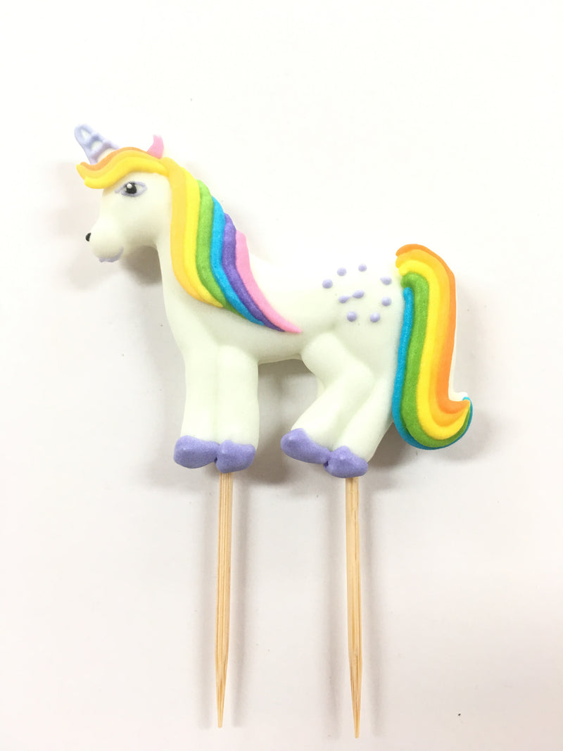Sugar Toppers - Single Large Unicorn