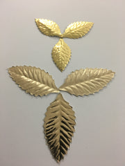 Foil Leaf Ornaments - Gold
