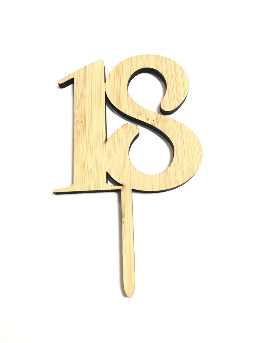 Cake Topper - Woodgrain Number