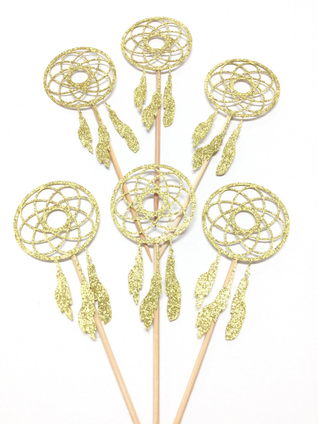 Cake Toppers - Gold dream catchers
