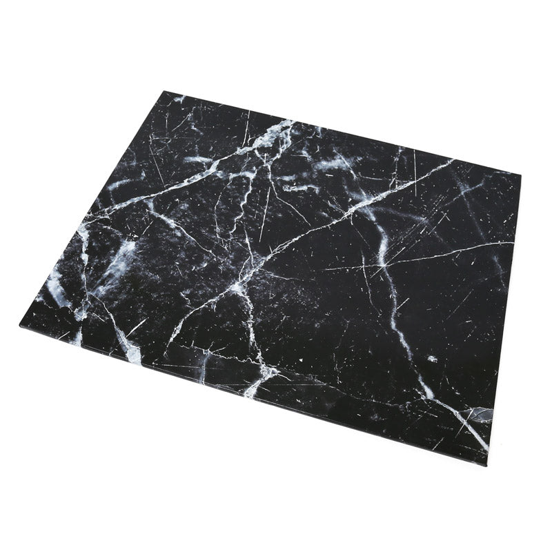 Rectangle Designer Cake Boards - Black Marble