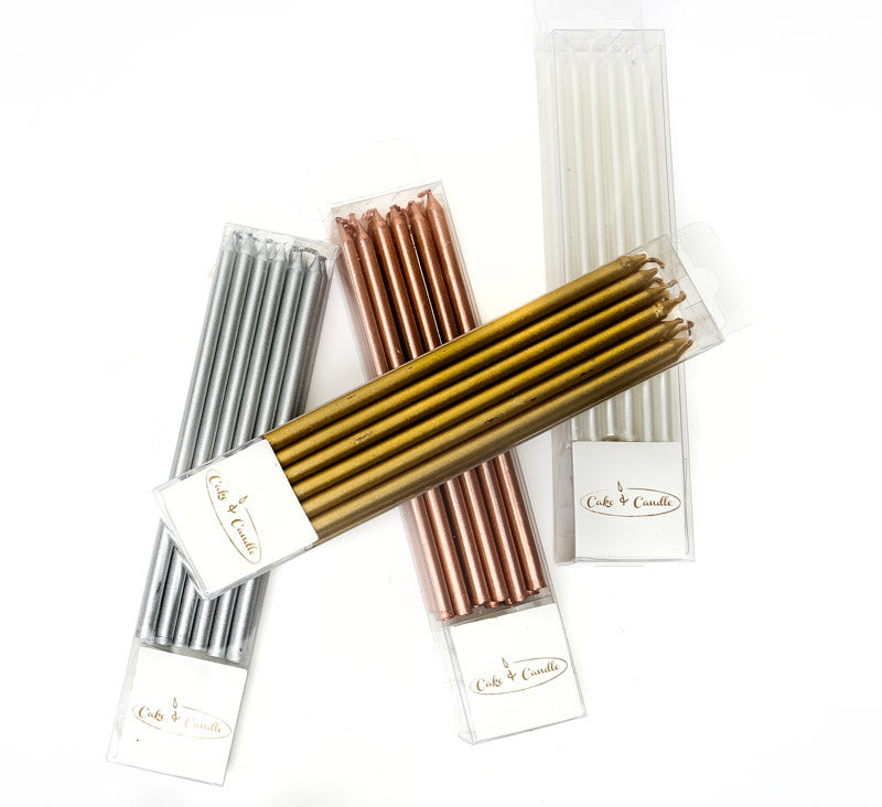 All Tall Candles - GOLD (Pack of 12)