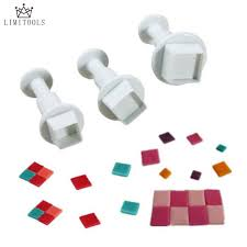 Plunger Cutter - Squares (Set of 3)