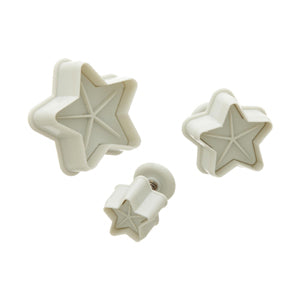 Plunger Cutter Set - lined Stars