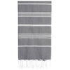 Cacala Antrasit Turkish Towel Front