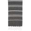 Cacala Black Turkish Towel Front