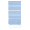 Cacala Blue Turkish Towel Front
