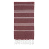 Cacala Burgandy Turkish Towel Front