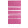 Cacala Fushia Turkish Towel Front