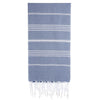 Cacala Greyblue Turkish Towel Front