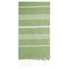Cacala Olivegreen Turkish Towel Front