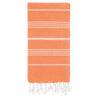 Cacala Orange Turkish Towel Front