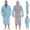 Ares Pestemal Turkish Towel Bathrobe - pestemalcom