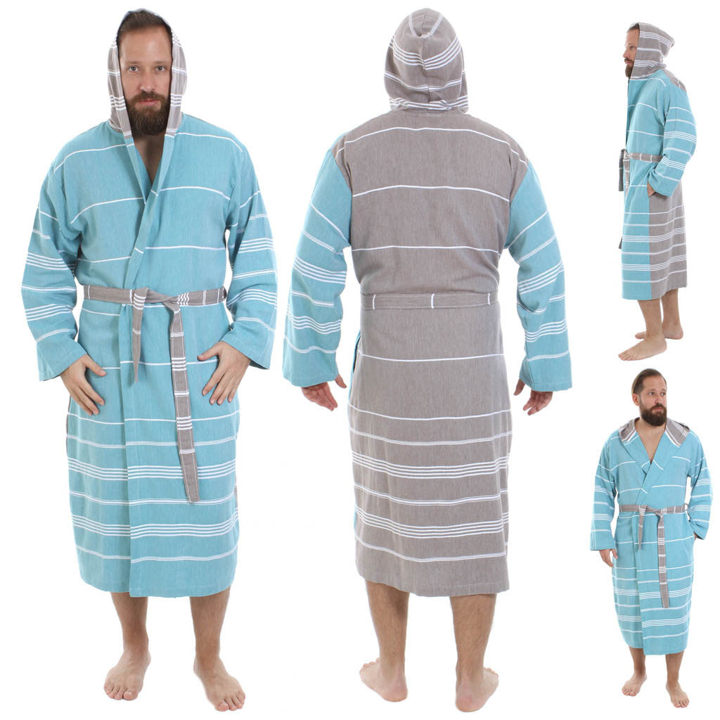 c4c0ad41f4 Ares Pestemal Turkish Towel Bathrobe - pestemalcom