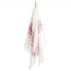 Cacala Double Side Elmas Hand Towel Red