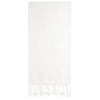 Cacala White Turkish Towel Front