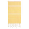 Cacala Yellow Turkish Towel Front