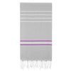Cacala Paradise  Turkish Towel Silver Gery