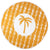 Palm Shine  Round Pestemal Beach Towel