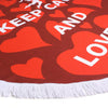 LailaAda Love Pestemal Round Towel - pestemalcom