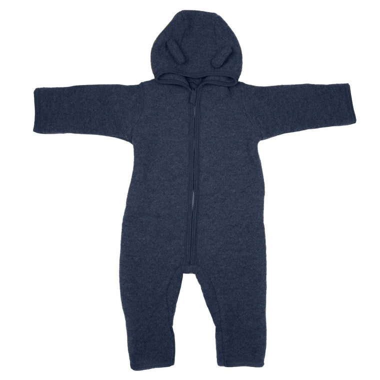 HUTTEliHUT - ALLIE -  Bummull fleece drakt við oyrum - Navy