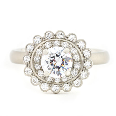 Scalloped Engagement Ring