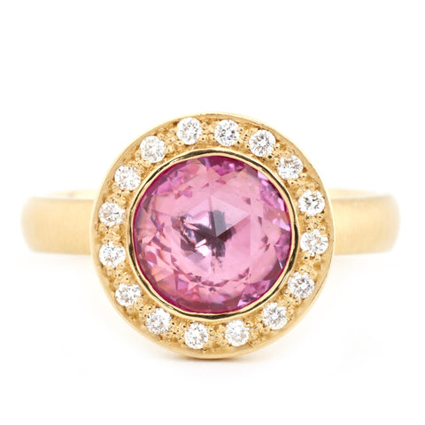Rosecut Pink Sapphire Ring