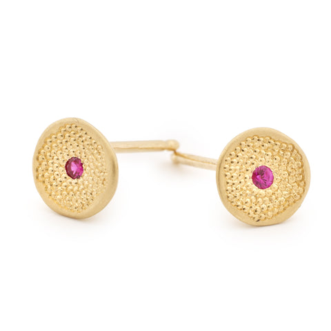 Mini Pink Sapphire 'Stardust' Earrings