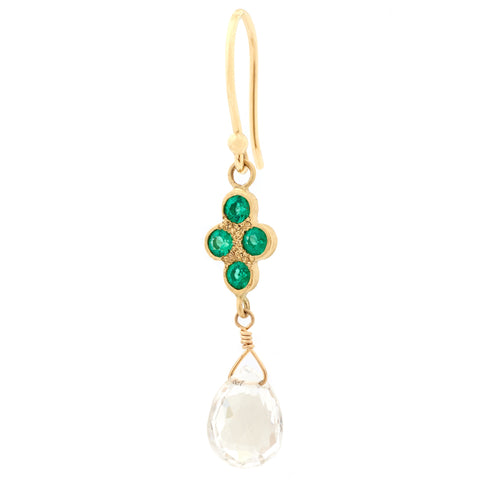 Topaz Stardust Emerald Earrings