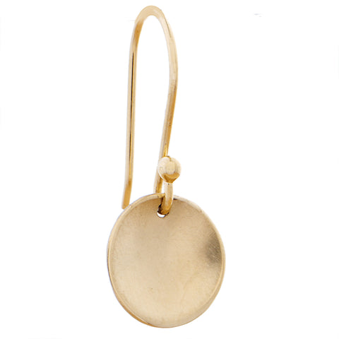 Petite Gold Round Disc Earrings