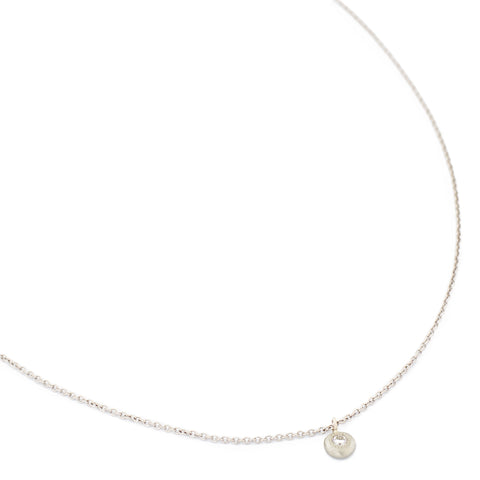 Diamond Gold Button Stardust Necklace