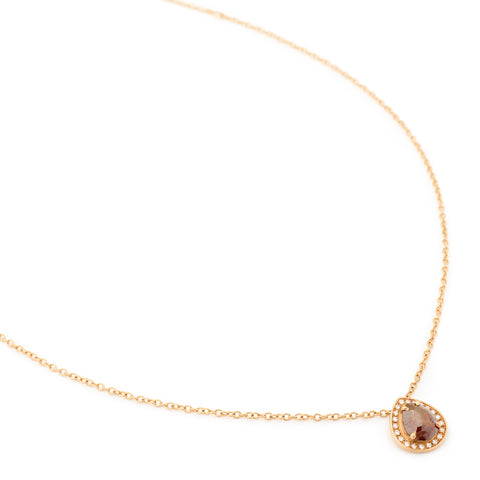 Brown Rosecut Diamond Necklace