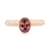 Rose Zircon Rose Gold Ring