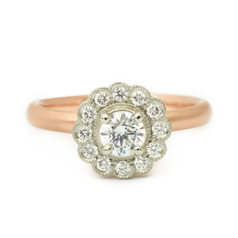 Ava Scalloped Engagement Ring