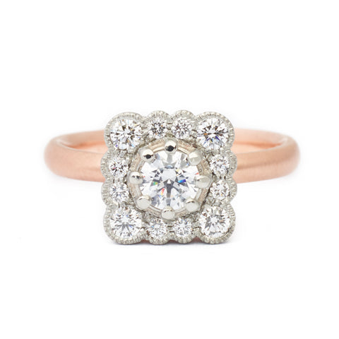 Lauren Scalloped Engagement Ring