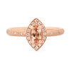 Peach Marquise Tourmaline Rose Gold Ring
