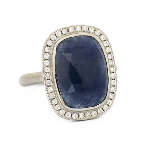 Rich Rosecut Navy Sapphire Ring
