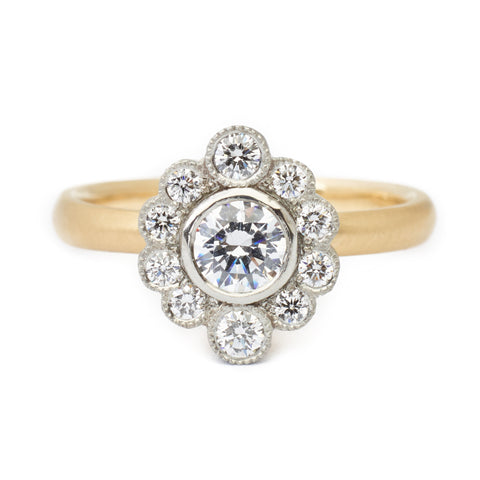 Olivia Scalloped Engagement Ring