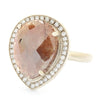 One of a Kind Tawny Pear Rosecut Diamond Ring