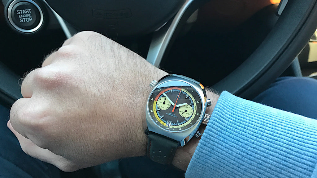 Wrist shot of the Straton Curve racing watch