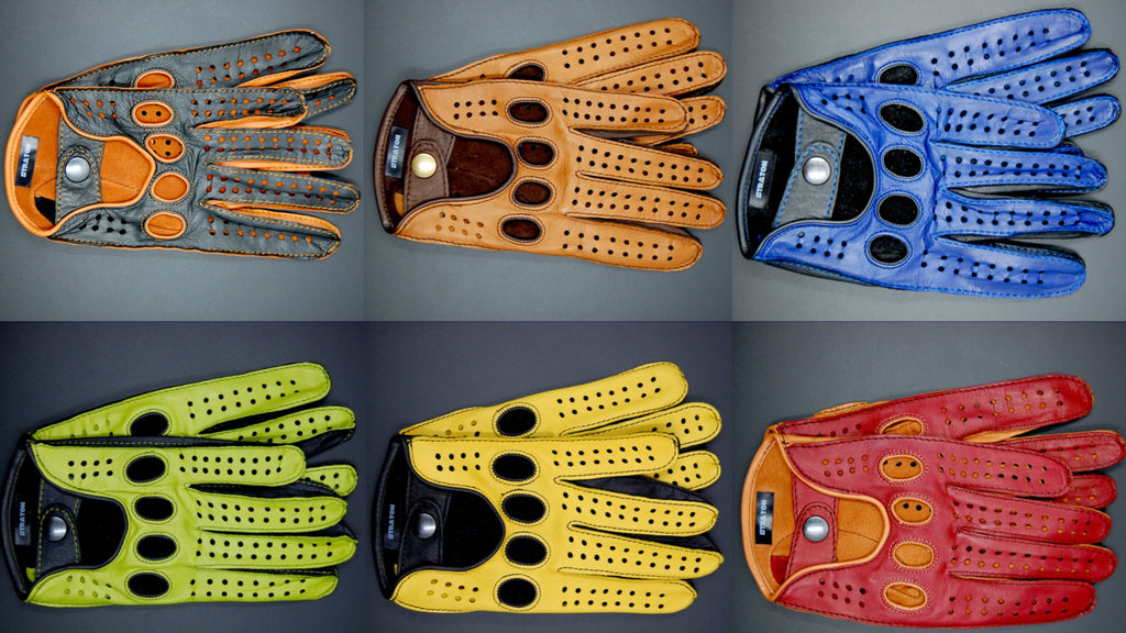 Straton leather driving glove collection