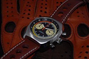 leather racing watch strap