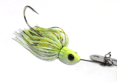 "Fierce Thunderbait ""Chartreuse & White"""