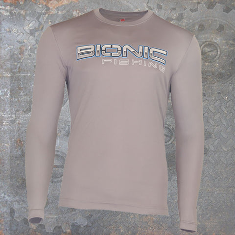 Dri Cool Performance Long Sleeve Gray