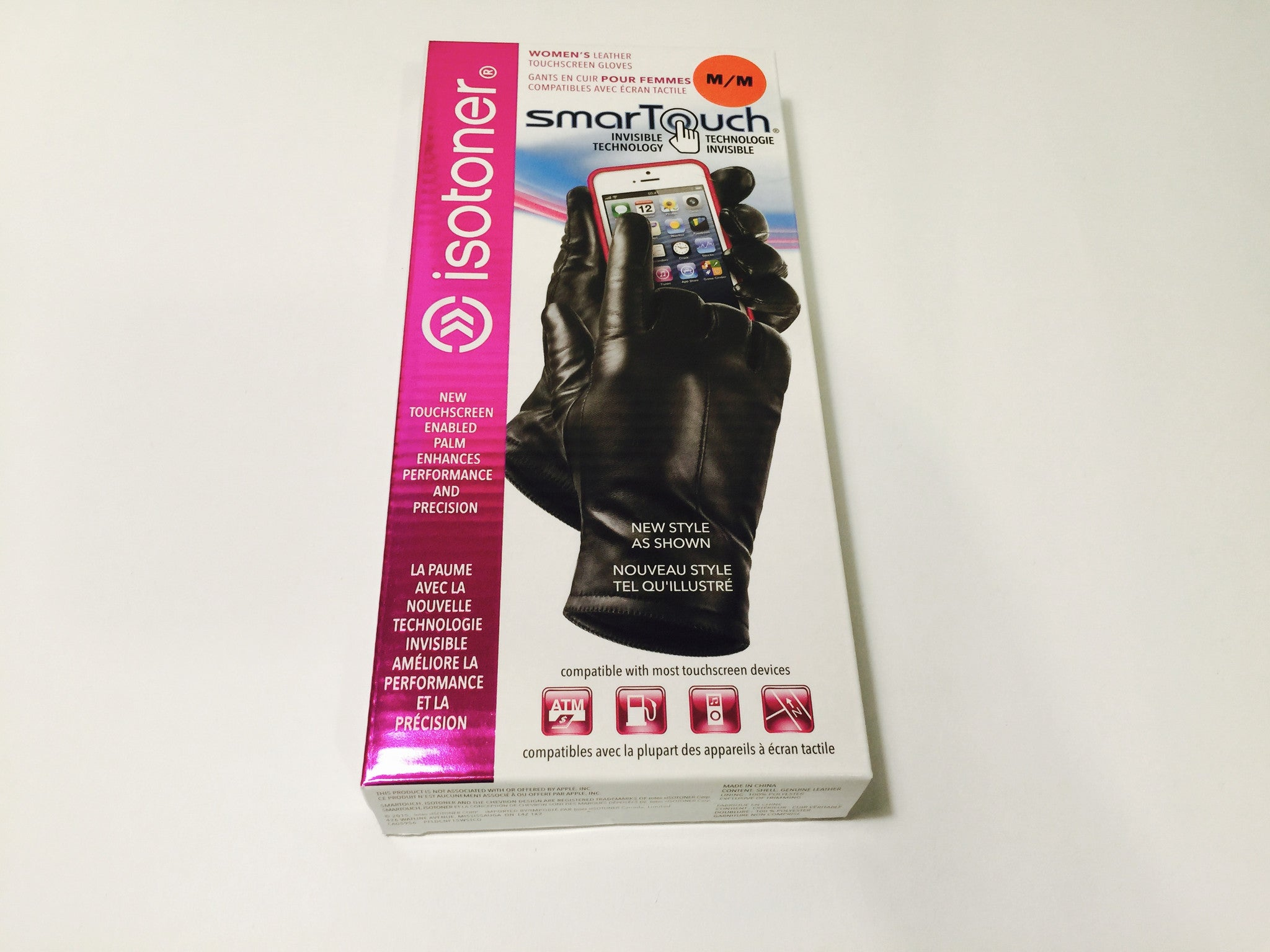 Ladies leather gloves xl - Isotoner Smartouch Leather Glove Ladies Sizes S Xl Hourey 1