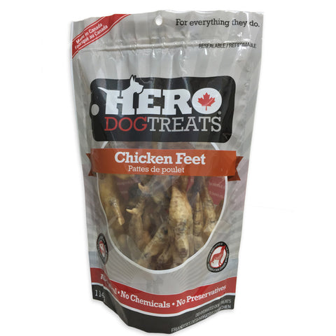 Hero Chicken Feet Dog Treats