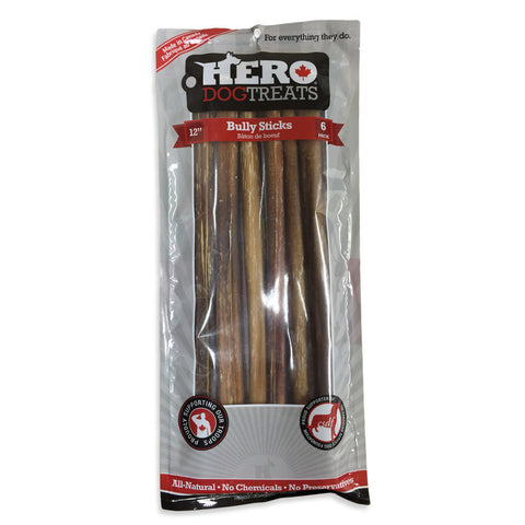 Hero Dog Treats Bully Stick Dog Chew 12""