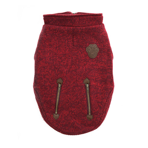 Canada Pooch Northern Knit Half-Zip Pullover Sweater