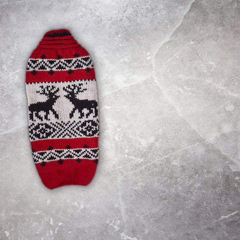 Chilly Dog Red Deer Sweater