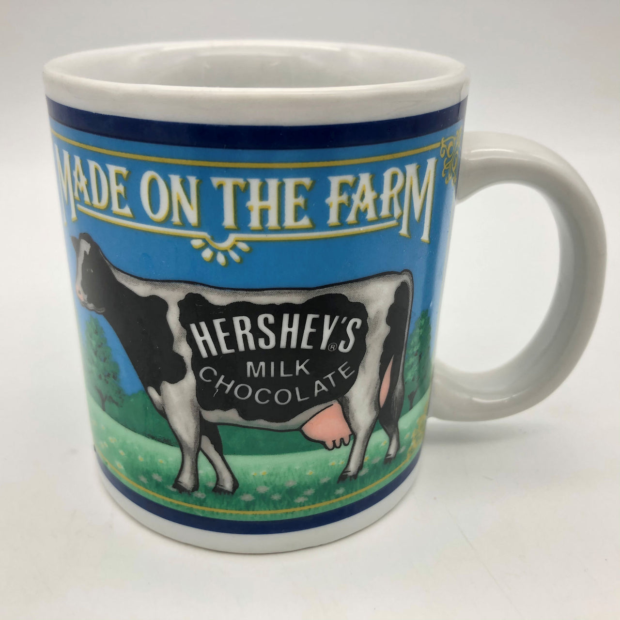Hershey Foods Corp Mug Made on the Farm Hershey's Chocolate Milk Cow 1993